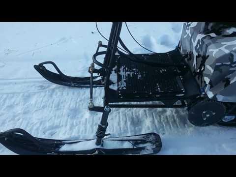 """Обзор на мотобуксировщик """"Лидер - 2"""" с лыжным модулем"""