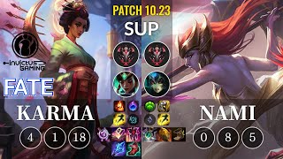 IG Fate Karma vs Nami Sup - KR Patch 10.23