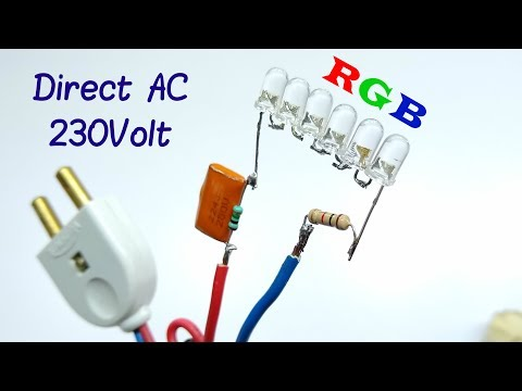 Awesome idea For 5mm RGB led Run AC