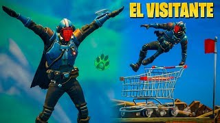 Skin SECRETA!! The Visitor!! Playing with her A BY VICTORIAS!! Fortnite Battle Royale!!