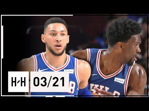 Ben Simmons & Joel Embiid Full Highlights 76ers vs Grizzlies (2018.03.21) - TOO EASY!