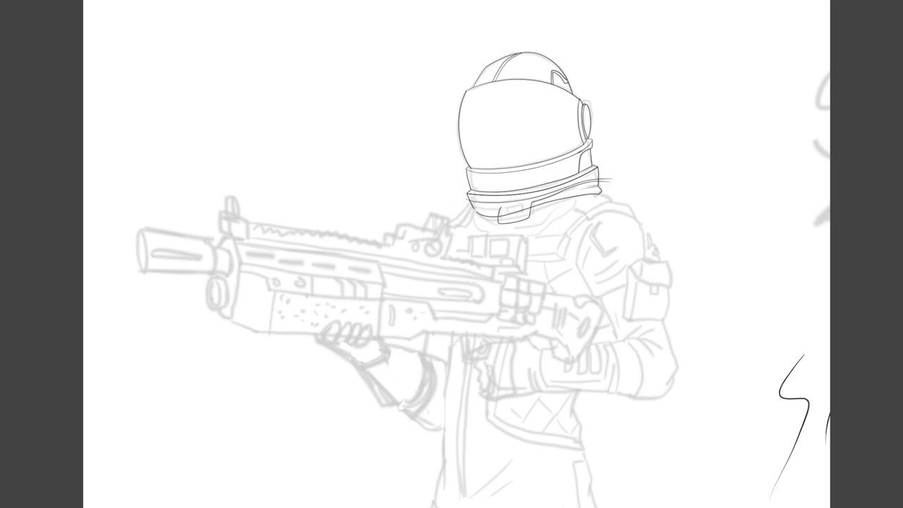 fortnite fanart zeichnen wacom cintiq 24hd speed painting - fortnite zeichnen skins