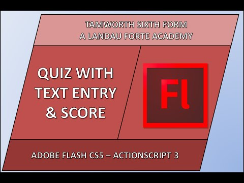 Flash Quiz with Text Entry & Score Tutorial