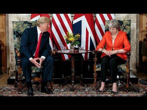 Trump nega críticas ao Brexit e a Theresa May