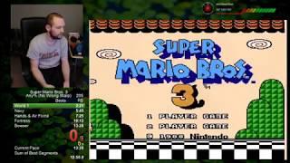 Super Mario Bros. 3 Speedrun Personal Best 12:33 any% no wrong warp