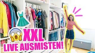 XXL KLEIDERSCHRANK AUSMISTEN LIVE & IHR BESTIMMT MIT! TIPPS ZUM ORGANISIEREN | KINDOFROSY
