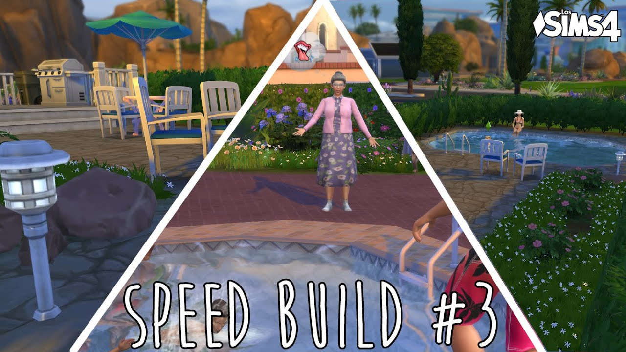 Speed build 3 jard n con piscina los sims 4 youtube for Sims 4 piscine a debordement