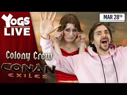 MORE PEDGUIN! - Conan Exiles W/ Lewis, Leo, Pedguin, Ravs And Pedguin Lol 28/03/20