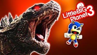 Sonic VS Godzilla - Godzilla.Exe - LittleBigPlanet 3 PS4 Gameplay