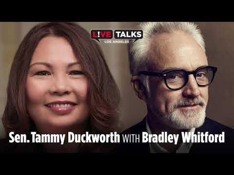 Senator Tammy Duckworth with Bradley Whitford at Live Talks Los Angeles