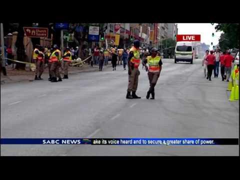 Protests march in Pretoria