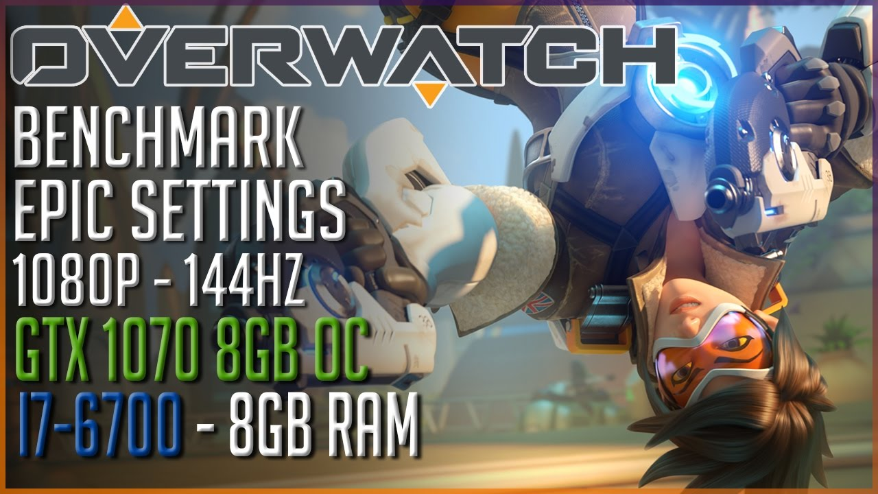 Overwatch 1080p EPIC Settings | GTX 1070 OC 8GB | i7-6700 | FRAMERATE TEST