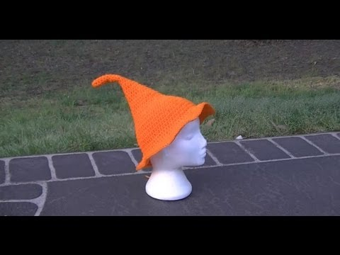 Witches Hat Crochet Tutorial Part 1 of 2  - Halloween