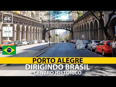 🚙 🇧🇷【4K】Porto Alegre • Centro Histórico • Dirigindo Brasil [POV Driving]