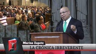 Encuentro del periodista Marino Zapete con la comunidad dominicana en Riverside Church NY.