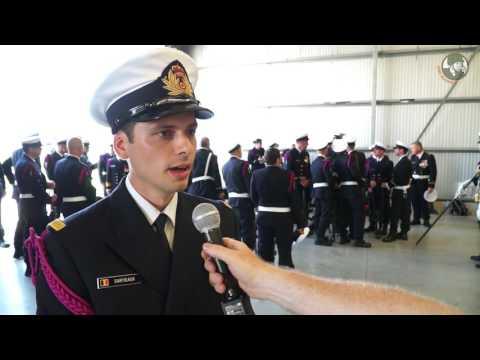 Sartieaux officier België marine component militaire parade 21 juli 2016