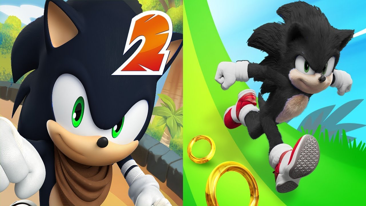 Sonic Dash 2 Shadow Vs Sonic Dash Shadow Youtube