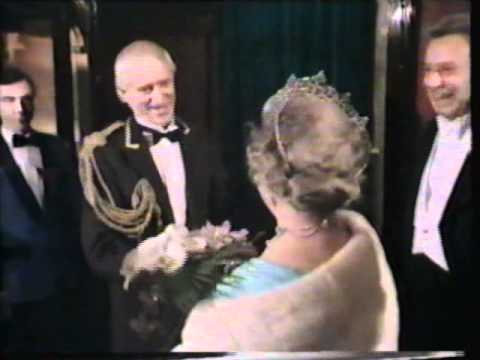 Royals arrive at Variety Performance 1984