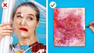 ART HACKS 4 U! 🌈   Idées de peinture GENIALES et autres astuces d'art DIY