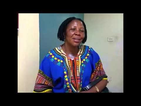 Tumour in chest- Congo woman