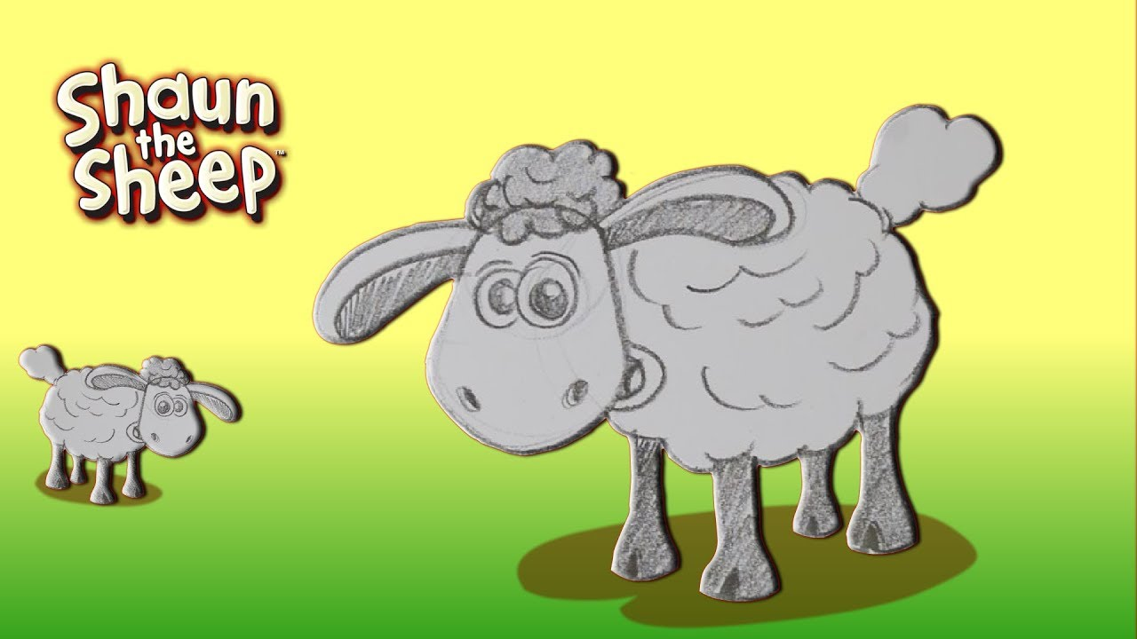 How To Draw Shaun The Sheep Draw With Me Drawing Made Easy Easy