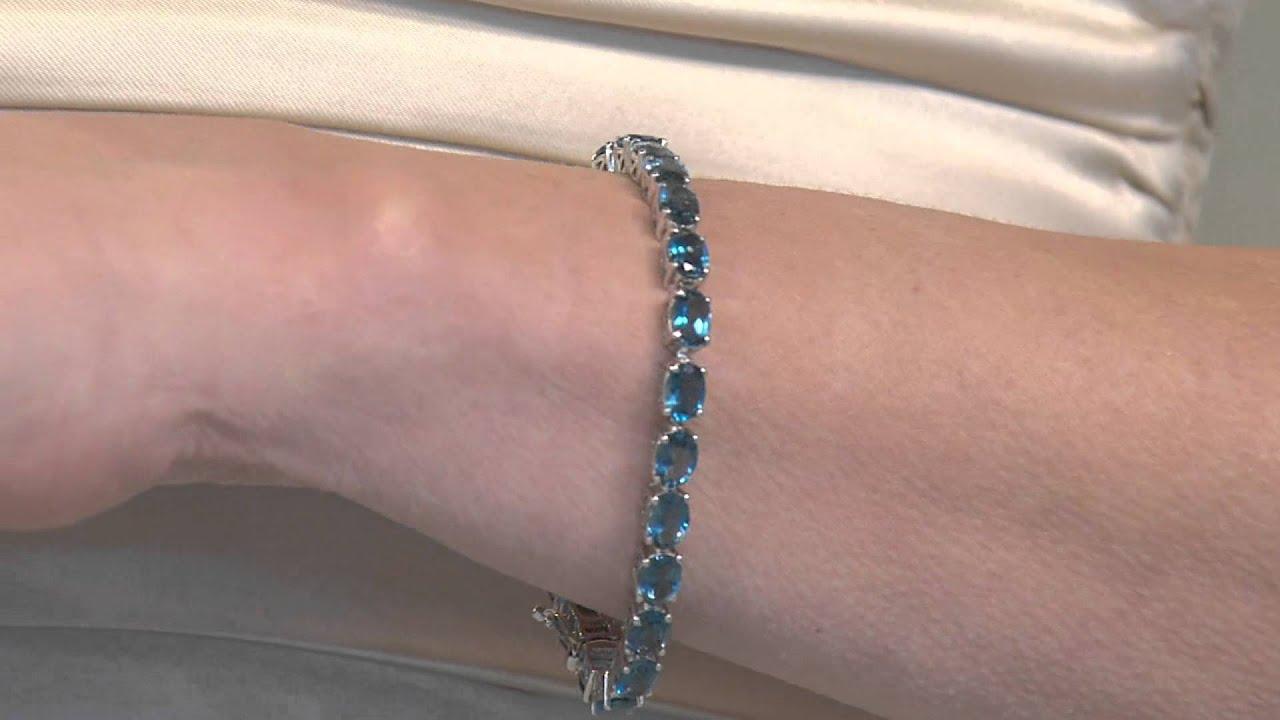 21 55 Ct Tw London Blue Topaz Sterling 8 Tennis Bracelet With Antonella Nester