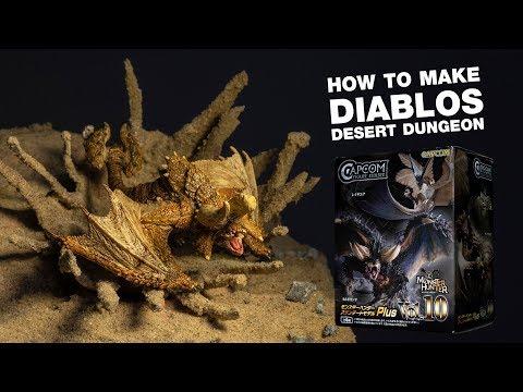 MHW- Make Diablos desert dungeon step by step [Diorama] [MHW Diablos]-[Chapter3]