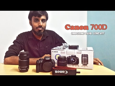 Unboxing Canon EOS 700D in India | Rebel T5i | Dual lens kit