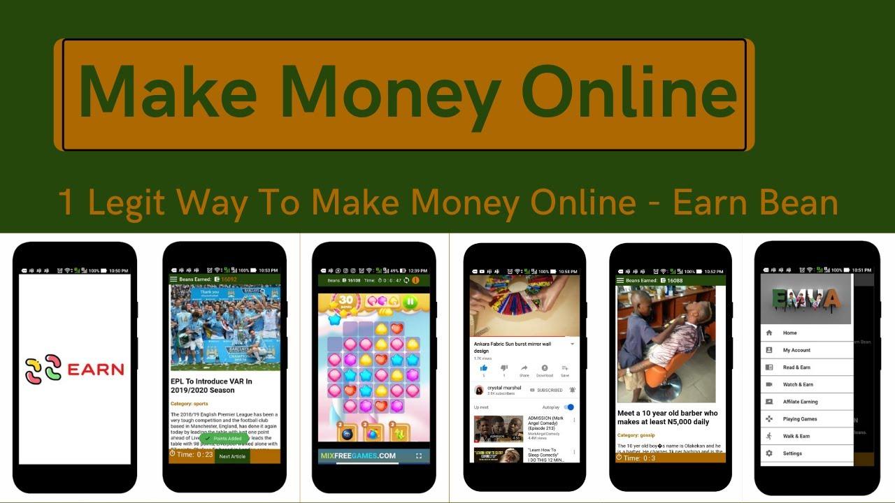 How To Earn Money Online Legit Ways