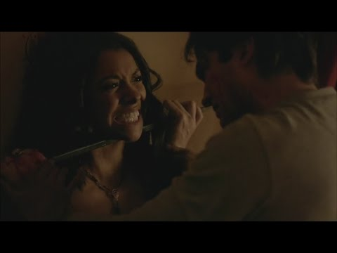 The Vampire Diaries: 7x10 - Damon brutally attacks Bonnie, Caroline, Stefan and Matt [HD]