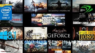 NVIDIA GeForce GTX 960 4GB 1080p Benchmarks With 15 Games