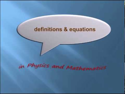 Definitions and terminologies in Physical Mechanics. Get better score in exam.