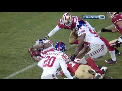 Giants crucial fumble recovery 1/22/2012 (HD)