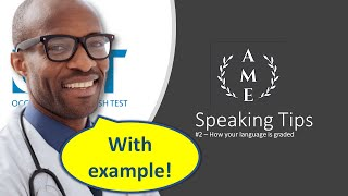 OET Speaking Tips 2: How you are graded - Linguistic Criteria (Part I)