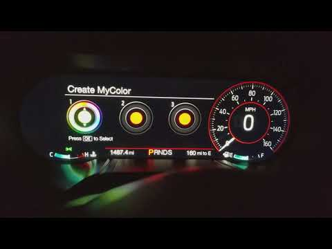 2018 Mustang GT Premium LCD cluster Performance Pack