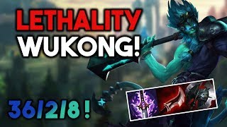 NEW LETHALITY WUKONG! RIDICULOUS DAMAGE! - Wukong Top S7 - League of Legends (Lol Gameplay)