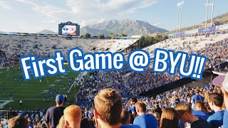 First College Football Game!! | BYU