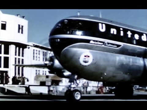 United Boeing 377 Stratocruiser Hawaii Travelogue - 1950