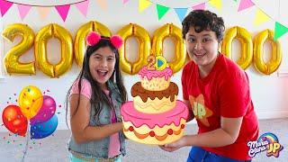 Maria Clara e JP comemoram os 20 milhões de inscritos! Maria Clara celebrates 20 million subscribers