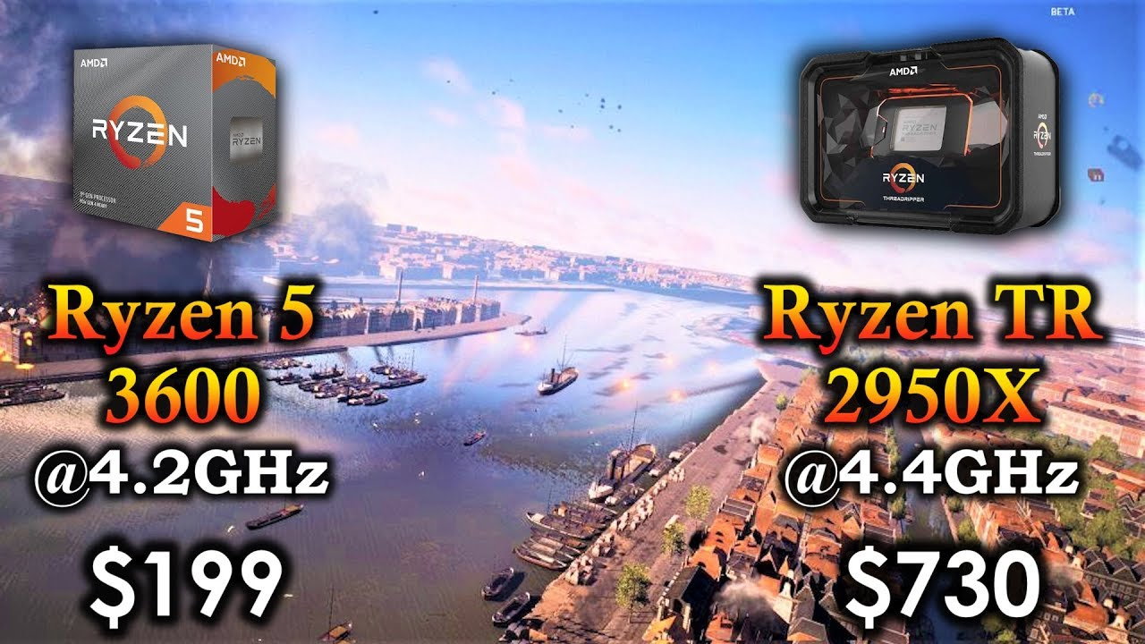 Ryzen 5 3600 vs Ryzen ThreadRipper 2950X | Radeon RX 5700 8GB | 1080p 1440p Benchmark Test