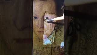 Watching 200-year-old varnish being removed from a painting