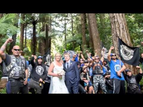 Black Power wedding photo goes viral in New Zealand