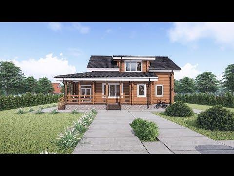 Анимация загородного дома из бруса  Lumion 8