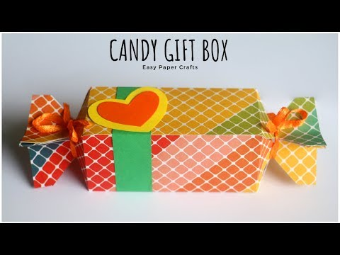 Candy Gift Box DIY | How To Make Gift Box ? Paper Craft Ideas | Handmade Gifts