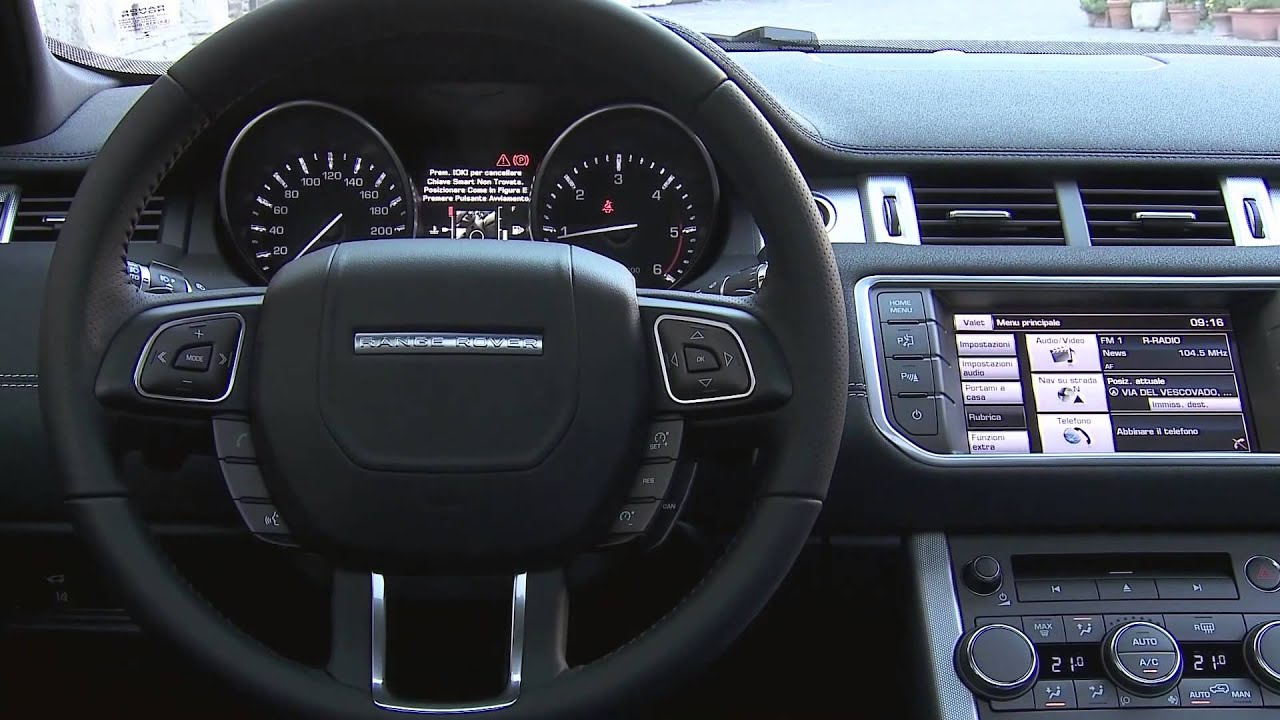 2014 range rover evoque 9 speed interior review automototv deutsch youtube. Black Bedroom Furniture Sets. Home Design Ideas