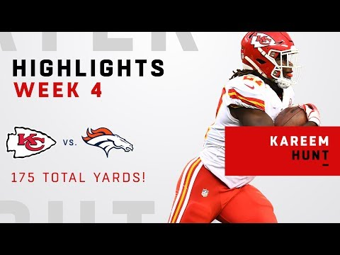 Kareem Hunt Tears Through Denver's Defense for 175 Total Yards!