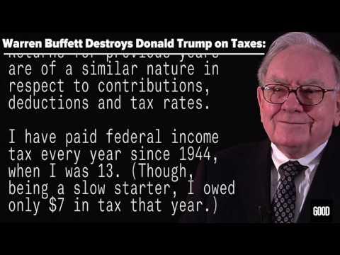 Warren Buffett Destroys Donald Trump on Taxes