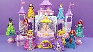 Glitzi Globes Spin 'n Sparkle Castle Playset Disney Princess Belle Ariel Sleeping Beauty & Friends S