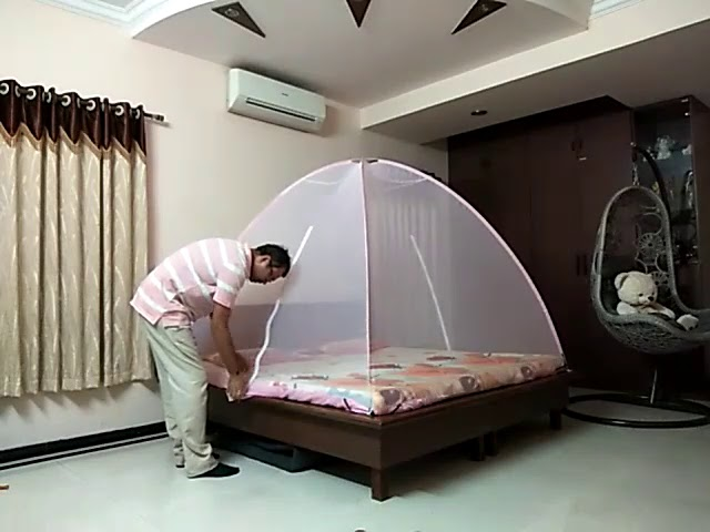 To Install And Fold Unik Mosquito Nets, How To Put Mosquito Net For Bed