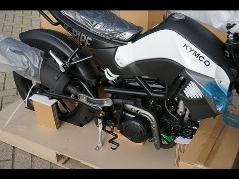 Kymco K-Pipe 125 unboxing/uncrating and assembly time lapse